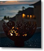 Firebowl At Night Metal Print