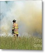 Firefighter 55 Metal Print