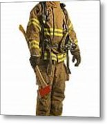 Firefighter Metal Print