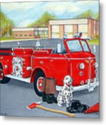 Firefighter - Still Life Metal Print
