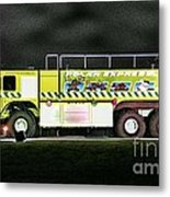 Firefighters Christmas 2 Metal Print
