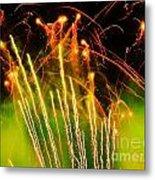 Firefly Fireworks Metal Print