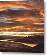 Firehole Sunset Metal Print