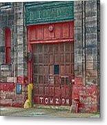 Firehouse Door Metal Print