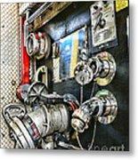 Fireman - Control Panel Metal Print