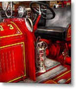 Fireman - Fire Engine No 3 Metal Print by Mike Savad