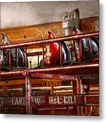Fireman - Ladder Company 1 Metal Print by Mike Savad