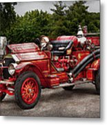 Fireman - Phoenix No2 Stroudsburg Pa 1923  Metal Print by Mike Savad