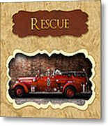Fireman - Rescue - Police Metal Print by Mike Savad