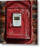Fireman - The Fire Alarm Box Metal Print