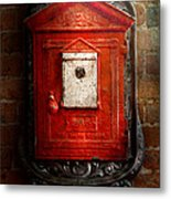 Fireman - The Fire Box Metal Print