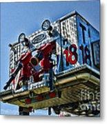Fireman - The Fireman's Ladder Metal Print