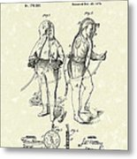 Fireman's Suits 1876 Patent Art Metal Print by Prior Art Design