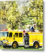 Firemen - Back At The Firehouse Metal Print
