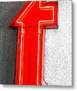 Firestone Building Red Neon T Metal Print