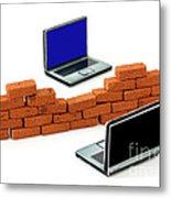Firewall Protection For Laptops Metal Print