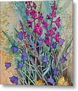 Fireweed And Bluebells Metal Print
