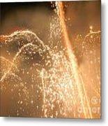 Firework Shower Metal Print