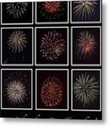 Fireworks - Black Background Metal Print