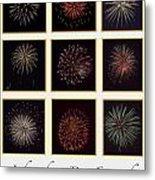 Fireworks - White Background Metal Print