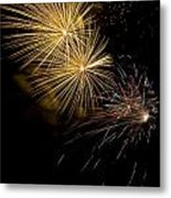 Fireworks 20 Metal Print by Sandy Swanson