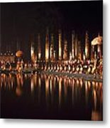 Fireworks At Festival In Thailand Metal Print