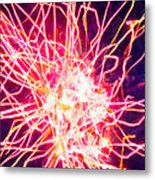 Fireworks At Night 6 Metal Print