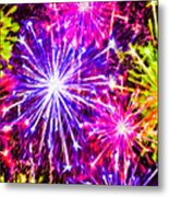 Fireworks At Night 7 Metal Print