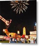 Fireworks At The Carnival Metal Print