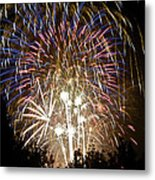 Fireworks Bursts Colors And Shapes 1 Metal Print