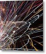 Fireworks Cropped Metal Print