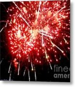 Fireworks Display At Niagara Falls Metal Print