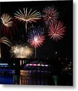 Fireworks Finale Metal Print by Robert Camp