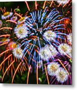 Fireworks Flower Abstract Metal Print