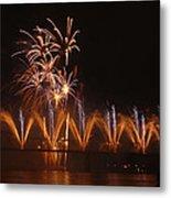 Fireworks Fountain Metal Print