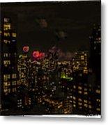Fireworks From My Window 1 - Manhattan Metal Print