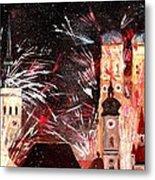 Fireworks In Munich Metal Print