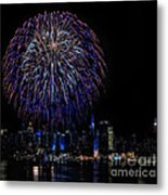 Fireworks In New York City Metal Print by Susan Candelario