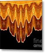 Fireworks Melting Abstract Metal Print