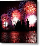 Fireworks Metal Print by Nishanth Gopinathan