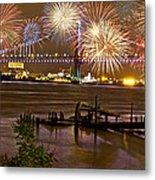 Fireworks On The Ben Metal Print