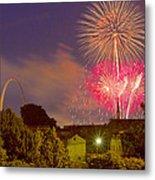 Fireworks Over St Louis Metal Print