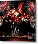 Fireworks Over The Delaware Metal Print by Nick Zelinsky