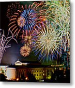 Fireworks Over The Museum Metal Print