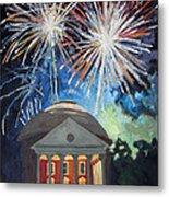 Fireworks Over The Rotunda Metal Print