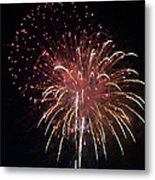 Fireworks Series Xiv Metal Print by Suzanne Gaff