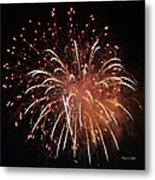 Fireworks Series Xv Metal Print by Suzanne Gaff