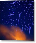 Fireworks Tree Of Life Metal Print by Kevin Read