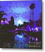 Fireworks Venice California Metal Print by Jerome Stumphauzer