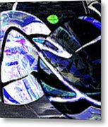 Firmament Cracked #1 Confusing Dark And Light Metal Print